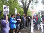 Bradley Manning supporters hold a vigil at US embassy