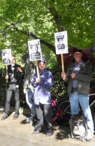Vigil for Bradley Manning at the US embassy, 25 August 2012