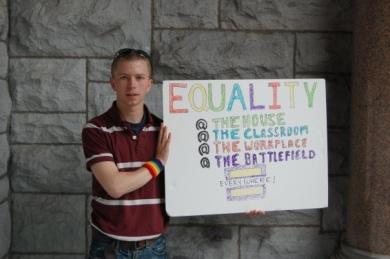 BRAD EQUALITY PROTESTER
