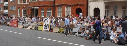 JULIAN AUGUST 2012 crowds at embassy