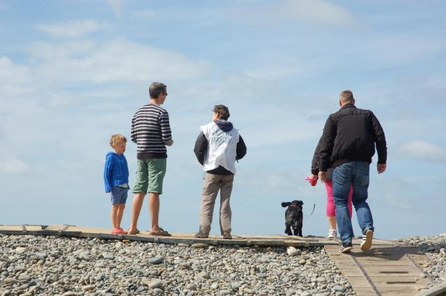 engaging with holidaymakers at newgale
