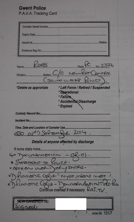 police record sm no sig