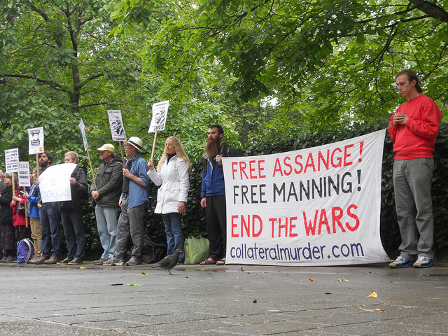 Previous solidarity event at the US Embassy, London
