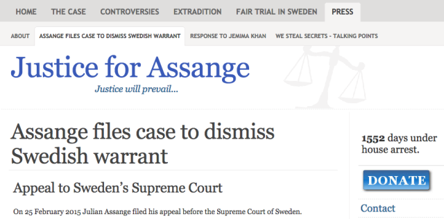 Read the latest at www.justice4assange.com