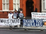 War is over if you want it! November 16th 2016 outside the Ecuadorian Embassy in London in Solidarity with Julian Assange & WikiLeaks